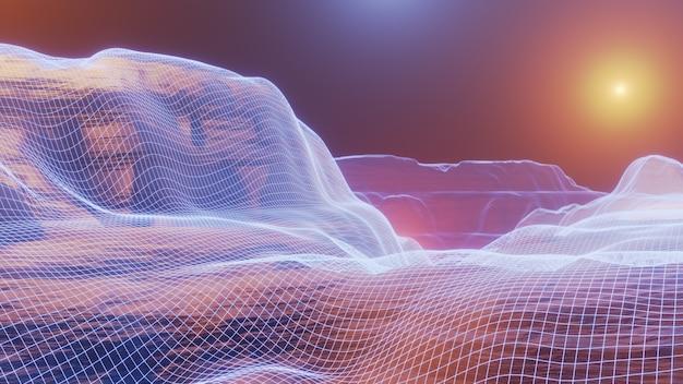 Фэнтези вселенная космический фон, объемное освещение. 3d визуализация