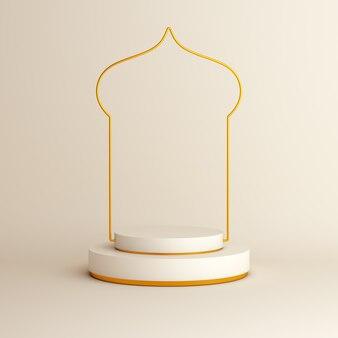 Исламский дисплей фон 3d-рендеринга