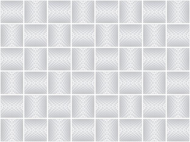 3d-рендеринг. бесшовные серый современный квадратный сетка арт шаблон керамическая плитка дизайн текстуры стены фон.