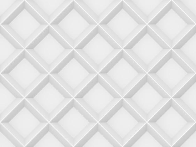 3dレンダリング。シームレスなモダンな白灰色の正方形グリッドパターン壁デザインテクスチャ背景。