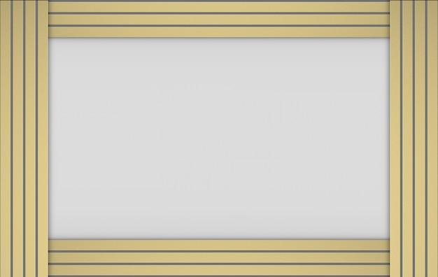 3dレンダリング。灰色の背景にモダンで豪華なゴールド垂直バーパターン。