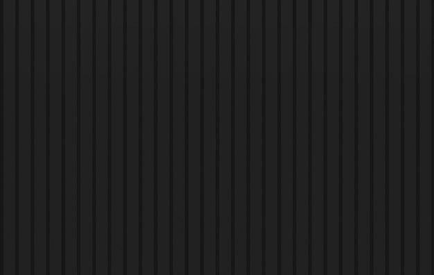 3dレンダリング。最小限の黒い垂直パネル木製の壁の背景。