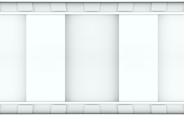 3dレンダリング。モダンなミニマルな灰色の壁。