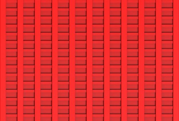 3d-рендеринг. сложенные красные панели деревянные потолочные стены дизайн текстуры.