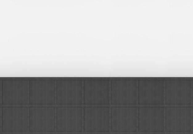 3d-рендеринг. современная минимальная черная квадратная коробка из дерева на фоне пустой белой стене.
