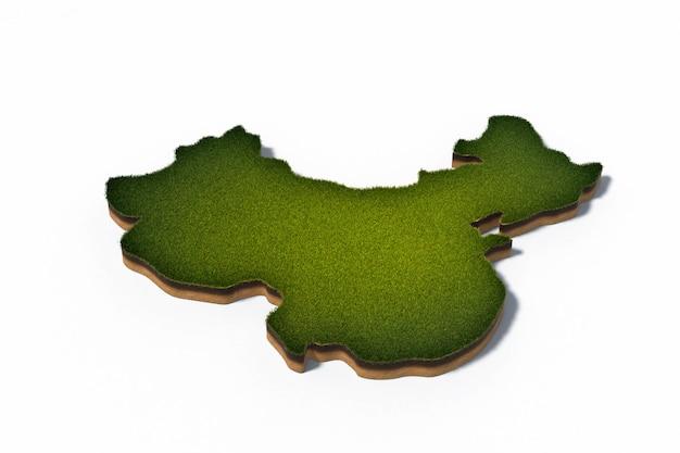 3d иллюстрация карта китайской народной республики (кнр)