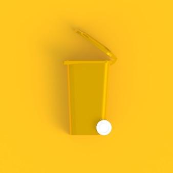 ウィリービン抽象的な最小限の黄色の背景、3dレンダリング