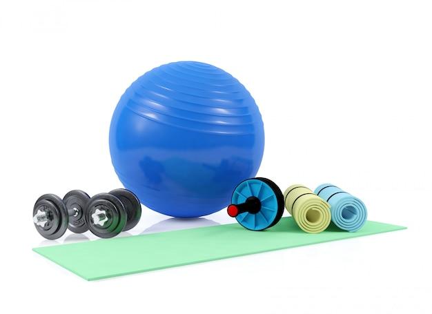 Фитнес-оборудование, 3d-рендеринг