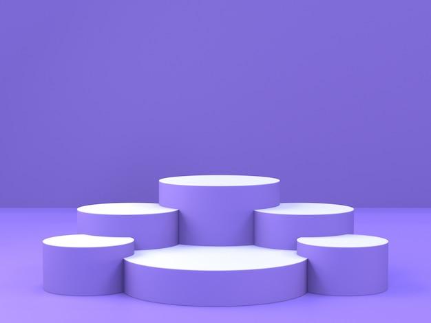 3d-рендеринг пьедестала подиума, абстрактный минимальный подиум для презентации продукта