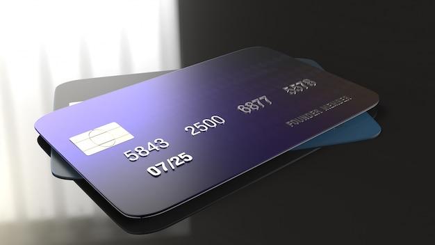 Перевод кредитной карты 3d для концепции дела.