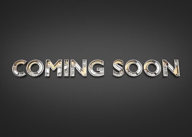 Скоро слово, сделанное из механического алфавита. 3d-иллюстрация