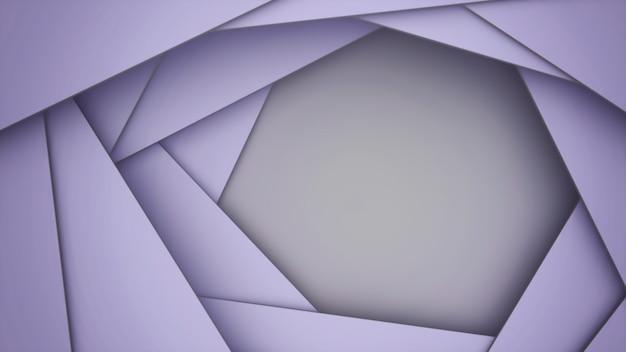 3d плоскости перекрываются с копией пространства / фон фиолетовый.