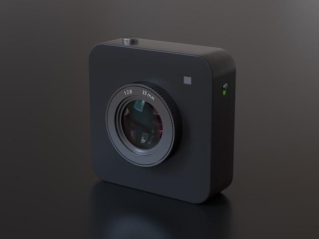 Цифровая камера 3d рендеринг технологии фотографии концепция