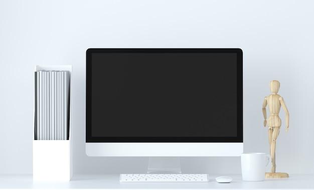 Дом и офис объекты пустой сценарий фон 3d визуализации
