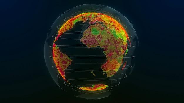 Глобальное потепление природы. 3d иллюстрация