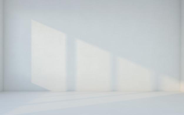 抽象的な白い部屋。壁のある空白の部屋。 3dレンダリング