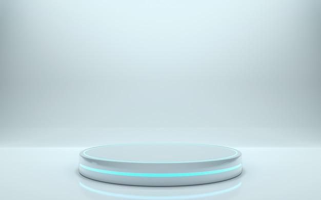 空の表彰台。 3dレンダリング - イラスト