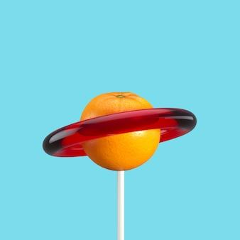 Фруктовые конфеты минимальная фруктовая идея. 3d визуализация.