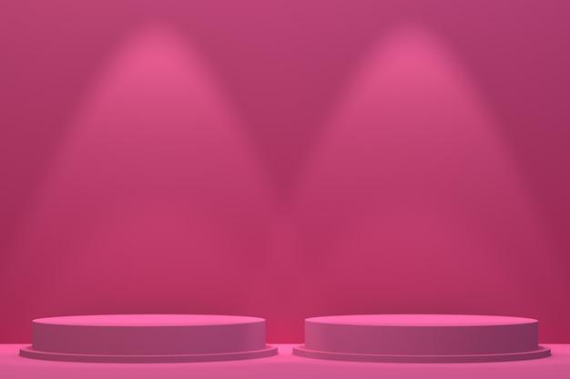 3d-рендеринг, подиум минимальный абстрактный фон для презентации косметической продукции, абстрактные геометрические фигуры