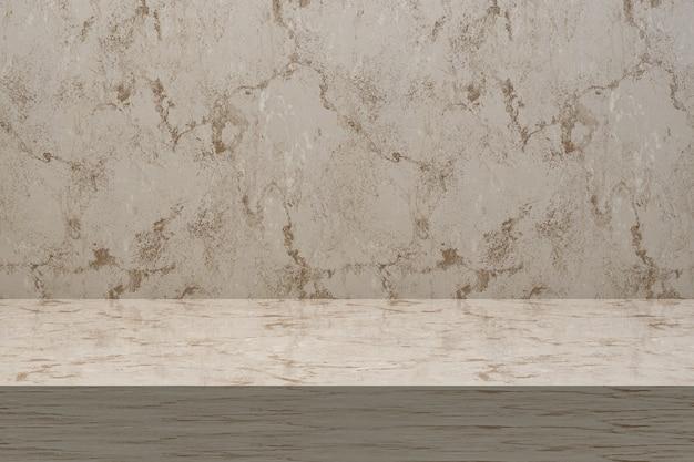3dレンダリング、ディスプレイ製品の大理石テーブルの豪華な背景の空のコピースペース