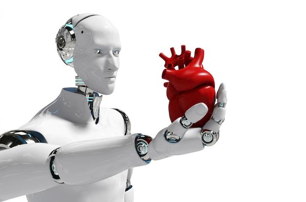 Медицинский робот концепция робот для использования медицинский белый фон 3d-рендеринга