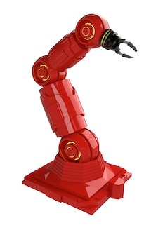 Концепция автоматизации промышленности с 3d-рендеринга робота оружия