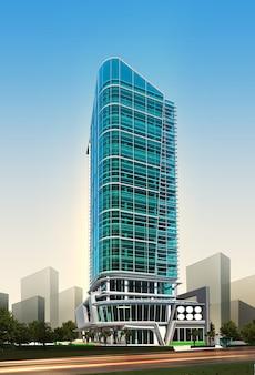 建物の3dレンダリング