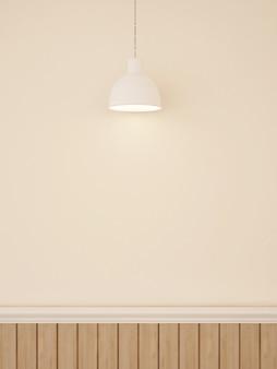 アートワーク用の壁装飾およびペンダントランプ -  3dレンダリング