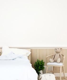 寝室または子供部屋の家またはアパート、3dレンダリング