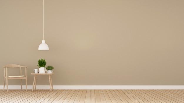 Столовая в кафе или доме - 3d рендеринг