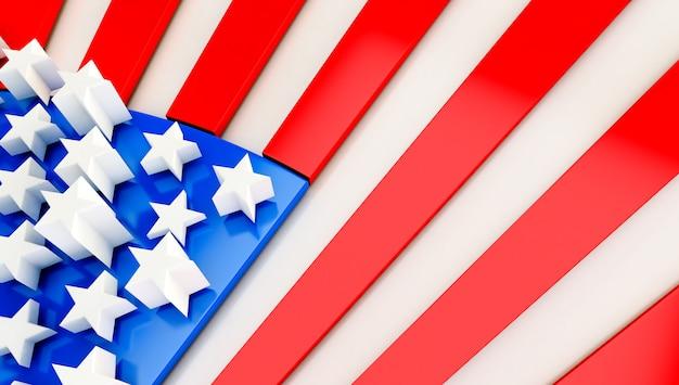 Фон флаг сша. 3d визуализация