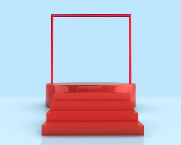 幾何学的形状の最小限のデザイン要素。 3dレンダリング