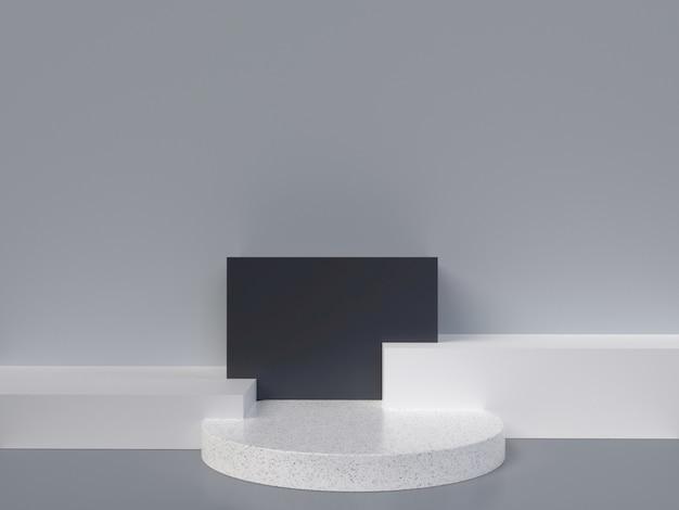 最小限の3d抽象形状