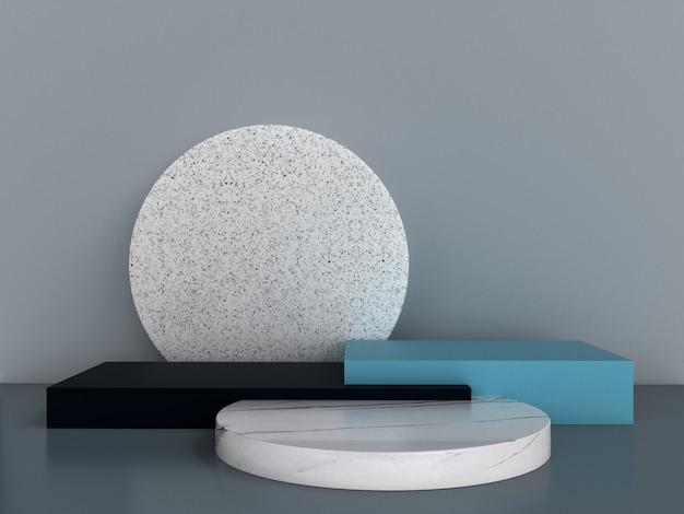 Абстрактные 3d рендеринга геометрических фон. минималистичный дизайн с пустым пространством.