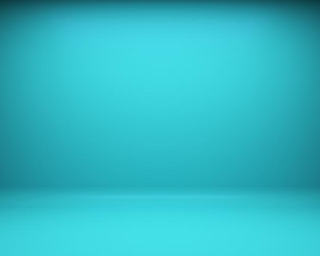 Голубая предпосылка пола и стены. 3d рендеринг