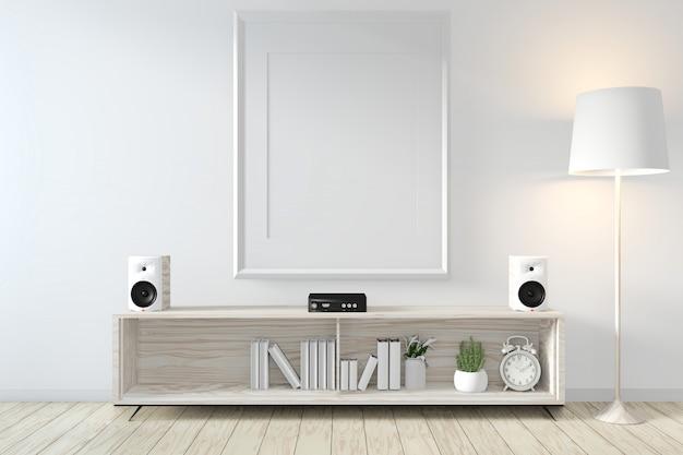 Рамка в стиле дзен в стиле модерн на современной комнате и отделке 3d рендеринг