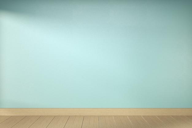Пустая комната мяты на деревянном дизайне интерьера пола. 3d рендеринг
