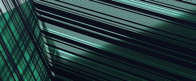 Зеленая линия картины перевода 3d отражает роскошную предпосылку.