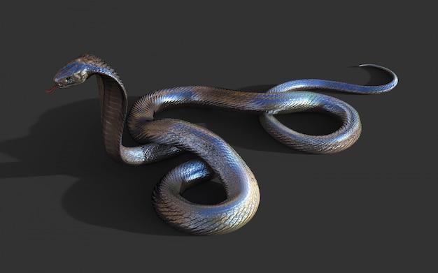 3d королевская кобра самая длинная ядовитая змея в мире