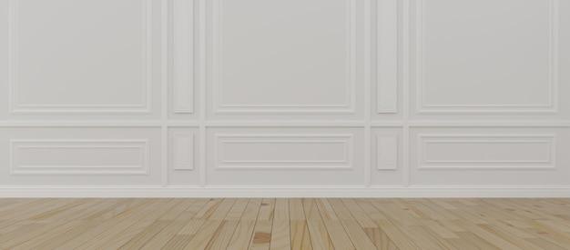 ロフトスタイルの大きな窓と空の部屋。 3dレンダリング