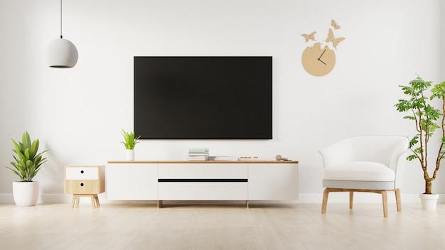 Интерьер гостиной с тв кабинетом. 3d-рендеринг.