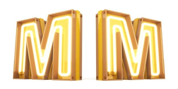 Неоновый свет цифровой алфавит 3d-рендеринг на белом фоне с обтравочными контурами