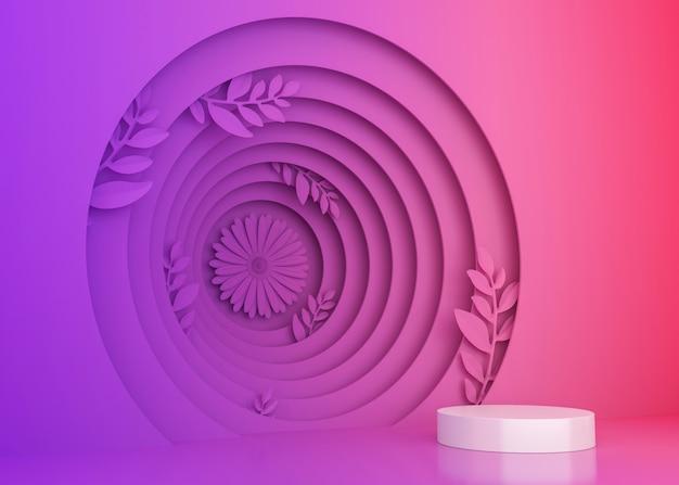Красочная предпосылка дисплея тоннеля для представления продукта, иллюстрации перевода 3d.