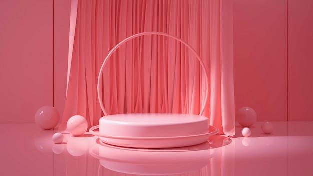 3d-рендеринг современного минималистского подиума