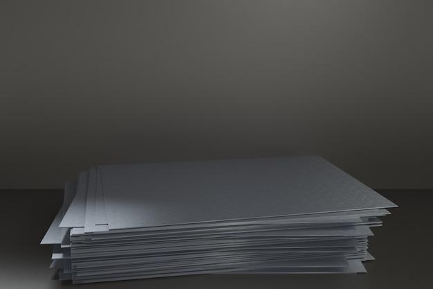 3d визуализации платформа для дизайна, стенд пустой продукт, стальная пластина