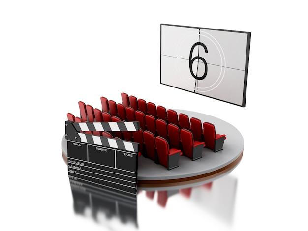 Кинотеатр кинотеатров 3d с кинотеатром.