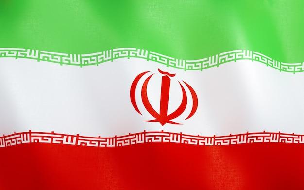 イランの3d旗。