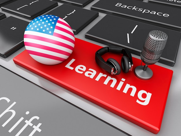 3dコンピュータキーボードで英語を学ぶ。