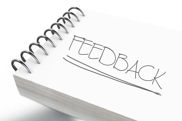 フィードバックテキスト付きの3dメモ帳