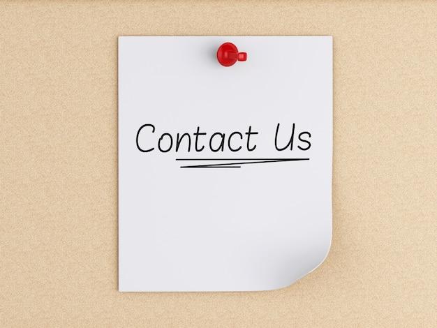 3d свяжись с нами на пост-заметках с помощью пробки над пробкой.